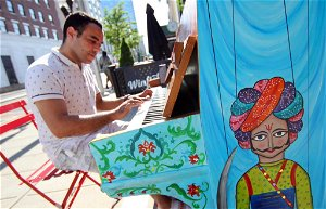 In Photos: Painted pianos pop up in Stamford to bring music, art to downtown