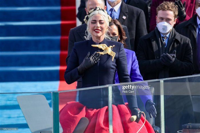 Lady Gaga Gives Emotional National Anthem Performance at Joe Biden's Presidential Inauguration