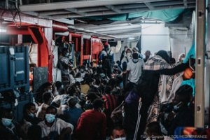 Ship Rescues Nearly 200 Migrants Off Libya