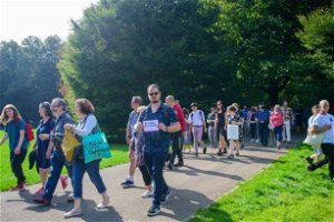 Bute Park: Hundreds march against vandalism at Cardiff beauty spot
