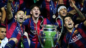 When Lionel Messi, Neymar and Luis Suarez fired Barcelona to the Champions League