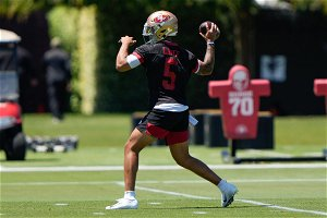 Kyle Shanahan discusses Trey Lance positives from 49ers OTAs