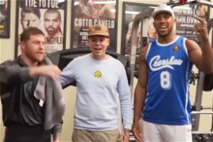 Canelo Alvarez's tactical advice to Anthony Joshua during visit to star's gym