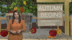 Autumn begins today with mild & muggy conditions