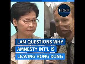 'No way to prove' Amnesty leaving Hong Kong due to security law: Lam