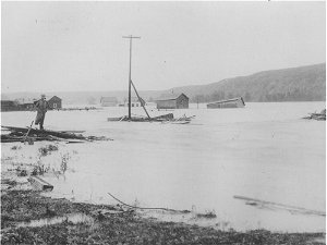 Remembering the Great June Flood... from 124 years ago: Homes, bridges and rail tracks wash away