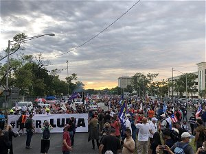 Hundreds march in Puerto Rico, outraged over power outages