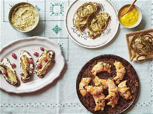 Cook this: Open sandwich with herby curd and charred fennel from Amber and Rye