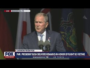 Bush urges Americans on 9/11 to embrace unity, reject politics of 'fear'