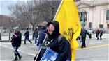 Woman trampled in Capitol riots had 'Don't tread on me' flag