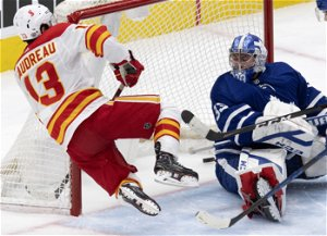 Gaudreau scores in overtime, Flames beat Maple Leafs 3
