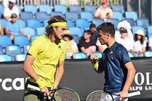 ATP Monte Carlo: Tsitsipas brothers save two MPs to stun No. 8 seeds