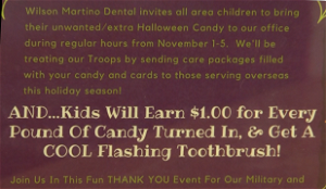 Thank the Troops annual event for Wilson Martino Dental coming soon