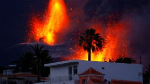 La Palma volcano declared more active than ever as it spews 'giant lava fountain' on Canary Island