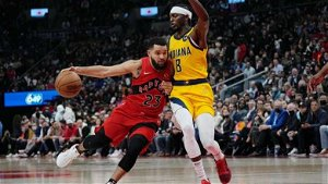 Raptors record 1st win in Toronto since February 2020 with thumping of Pacers