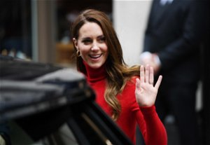 Kate Middleton stuns in red as she makes second speech in two days