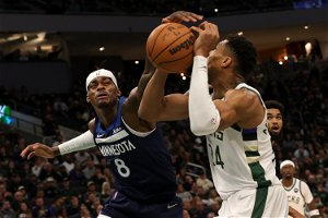 Russell, Towns lead T'Wolves to rare win at Milwaukee