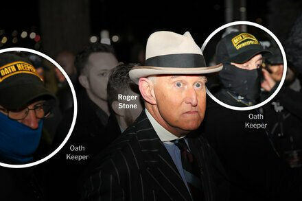 First They Guarded Roger Stone. Then They Joined the Capitol Attack.