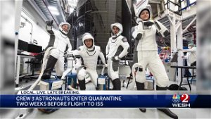 Crew 3 astronauts enter quarantine two weeks before flight to ISS