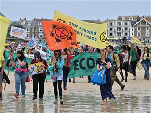 At G7, thousands protest over climate change, Tigray crisis and Myanmar coup