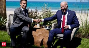 Biden has convinced allies 'America is back,' says France's Macron
