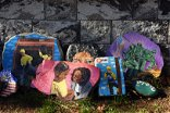 NJ woman's painted 'Wall of Gratitude' chronicles 2020. (It's not all grim)