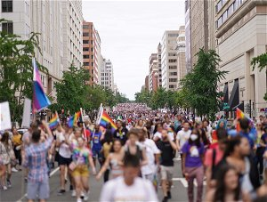 Harris attends DC pride rally