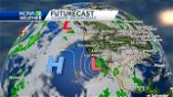 Less wind, cooler temperatures and rain chances in today's forecast