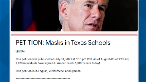 'We're going to continue to advocate for masking'   Houston ISD parents push new petition aimed at lifting mask mandate ban