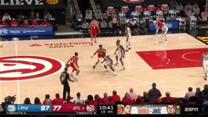 Lou Williams with an assist vs the Philadelphia 76ers