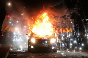 Belfast riots: PSNI attacked and car set alight in further night of violence