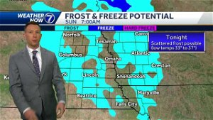Frost possible overnight, gorgeous Sunday afternoon