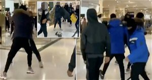 Man stabbed in leg and eight arrested after fight in Selfridges in London