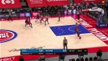 Jerami Grant with a 3-pointer vs the Philadelphia 76ers
