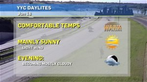 Sunny and warm to wrap up work week, a cool down in Calgary this weekend