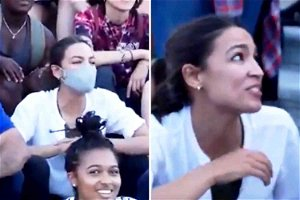 Security theater: AOC dons mask outdoors for photo op, then removes it