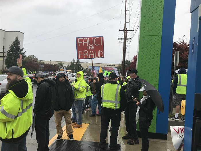Boeing workers stage protest near Seattle over U.S. vaccine mandate