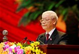 Vietnam's Communist Party chief nominated for re-election: state media