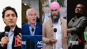 Three main federal party leaders on final campaign blitz