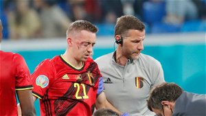 Horror injury for Leicester defender Castagne after Euro 2020 collision