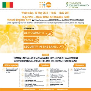 Bamako Forum: UNFPA organizes a side event on Demography, Peace and Security