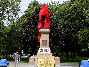 Kingston prepares to remove Sir John A. Macdonald Statue from City Park