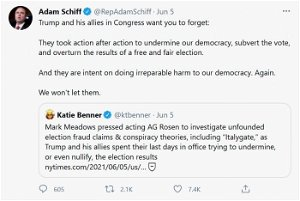 [Opinion] Adam Schiff: 'Trump and His Allies in Congress…Took Action After Action to Undermine Our Democracy'