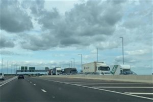 Four injured in car and lorry crash on A14 towards Cambridge
