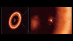 ALMA images moon-forming disk around alien world