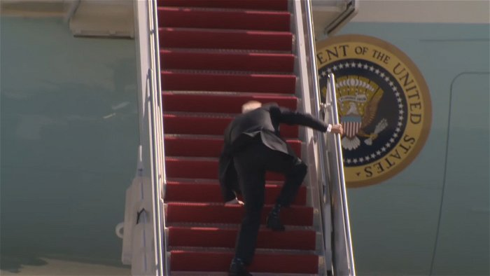 Flashback: Biden fall conjures up memories of media hysteria when Trump walked slowly down a ramp