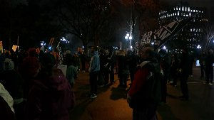 Protesters Rally At Downtown Minneapolis Courthouse, Vow To Show Up Day Or Night