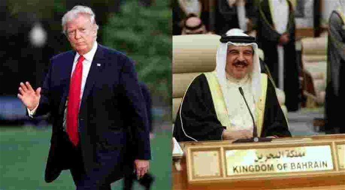 Trump decorates Bahrain king on last full day in office