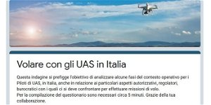 """Drones: """"Flying with UAS in Italy"""", a survey for pilots and professional operators"""