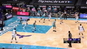 Montrezl Harrell with a 2-pointer vs the Charlotte Hornets